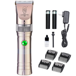 Aluminum Cutters Australia - 110-240V Aluminum alloy Charging electric hair clipper Shaver 4hours charging Titanium ceramic cutter head 2000 mAh lithium battery