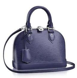 $enCountryForm.capitalKeyWord NZ - M40855 Alma Bb Water Ripple Blue Real Caviar Lambskin Le Boy Chain Flap Bag Handbags Shoulder Messenger Bags Totes