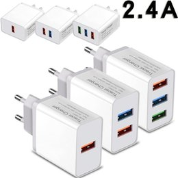 Wholesale Quick A Wall Charger Port Port Port USB Travel Cell Phone Fast Charging Foldable Plug Smart Charger Power Adapter for iphone samsung