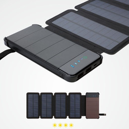 sunpower cells Australia - Solar panels 8W folding sunpower charger large capacity power bank universal Portable Phone Charger tourism External Battery