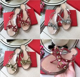 $enCountryForm.capitalKeyWord NZ - Flip flops 2018 summer New fashio style Europe United States brand designer rivets bow sandals shoes womens sandals high quality