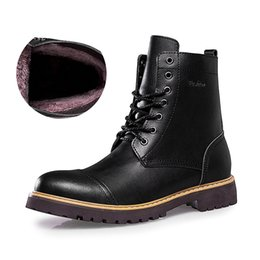 flat rivets boots UK - HOT Sale Autumn Winter Casual Snow Boots Men Waterproof Ankle Boots Flat Slip-Resistant Fashion Man Winter Shoes Big Size