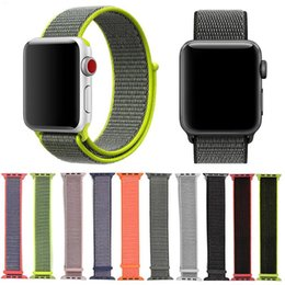$enCountryForm.capitalKeyWord Australia - Woven Nylon Sport Loop Bracelet Strap Replacement Wrist Watch Band Watchband For Apple Watch Series 4 3 2 1 40mm 44mm 38mm 42mm Belt Fabric
