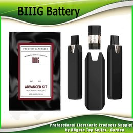 Cables system online shopping - BIIIG Advanced Pods Kit mAh Rechargeable Battery With USB Cable BIIIG Box Mod Vape Pen Carts Cartridge System Device Kits