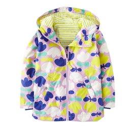 Jacket Waterproof Child UK - Baby Girls Jackets For Girls Windbreaker 2019 Autumn Kids Outerwear Coat For Girls Waterproof Raincoat Coat Children Clothes