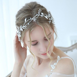 Wedding Charms For Bride Australia - New Design Charming Bridal Headpiece Silver Rhinestone Hairband Wedding Headband Tiara Handmade Hair Accessories For Bride