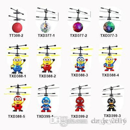 Toy Helicopter Wholesale Australia - 13 models RC Drone Flying copter Ball Aircraft Helicopter Led Flashing Light Up Toys Induction Electric Toy sensor