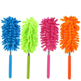 4 Color Scalable Microfiber Telescopic Dusters Chenille Cleaning Dust Desktop Household Dusting Brush Cars Cleaning Tool 30PCS on Sale