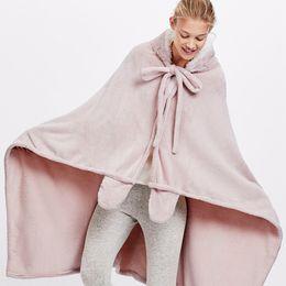 $enCountryForm.capitalKeyWord NZ - 2019 Home Winter Warm Fleece Mermaid Blanket Kids Throw Bed Wrap Super Soft Sleeping Bed Blanket Robe Cloak With Sleeves Home blanket cloak