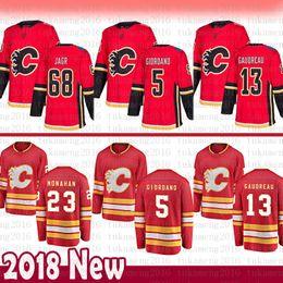 0614282ef3e Calgary Flames 13 Johnny Gaudreau Hockey Jersey 5 Mark Giordano 23 Sean  Monahan 68 Jaromir Jagr Jerseys