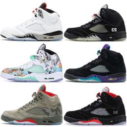 48fa7378b4e3c0 5 5s Mens Basketball Shoes Camo Wings Pro Stars Black Metallic Laney Saint  Germain AAA Quality 2019 New Athletics Sneaker