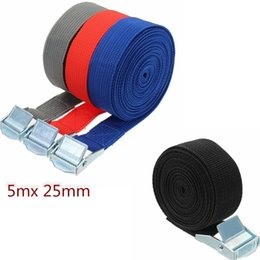 Discount cars ties - 5m Car Tension Rope Ratchet Tie Luggage Strap Tied Auto Car Boat Fixed Strap Luggage Belt With Alloy Buckle