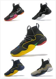 tennis shoes lining NZ - 2019 Crazy Byw I Socks Shoes Mens Grey Pharrell X Ambition Designer Skateboard Fly Line China Trainer Tennis Shoes 40-46