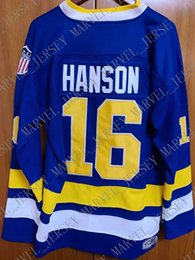 Slap Shot Chiefs Jersey NZ - custom Hanson Brothers Charlestown Chiefs #16 Slap Shot Movie Hockey Jersey Blue Stitched Customize any number name MEN WOMEN YOUTH XS-5XL