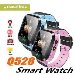 $enCountryForm.capitalKeyWord Australia - wholesale smart watch baby Q528 Children GPS Smart Watch with gps tracker Camera Flashlight watch Phone Smartwatch PK Q90 Q100 Q50