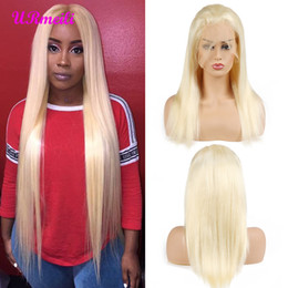 $enCountryForm.capitalKeyWord Australia - 613 Honey Blonde Full Lace Human Hair Wigs Remy 150% Density Brazilian Straight Hair 13x4 Lace Frontal Wigs 613 Blonde Hair Wig