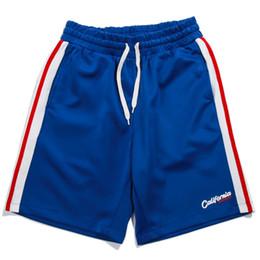 Knee sKateboard online shopping - Side Stripe Color Patchwork Casual Streetwear Hip Hop Shorts Men Summer Workout Knee Length Skateboard Harem Shorts