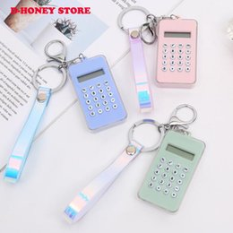 2019 Cartoon Mini Calculator Key Holder Cute Portable Student Pocket Calculator Pendant Girl Gifts game pendant dhl shipping