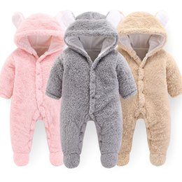 $enCountryForm.capitalKeyWord Australia - 2019 Autumn New Jumpsuit Newborn Baby Boys Girls Cartoon Polyester Clothes Infant Baby Winter Warm Outwear Hoodie Pajamas MX190720