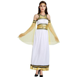 304a6d62f White Women Egypt Costume Greece Goddess Adult Cosplay Carnival Fancy Dress  Party Christmas Halloween Purim Role Play