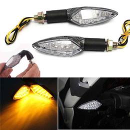Motorcycle Brake Light Bulbs Australia - 2PCS Motorcycle LED Turn Signal Light Indicators Amber Yellow Light Brake Rurning Tail Lamp Bulbs