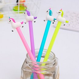 $enCountryForm.capitalKeyWord NZ - Run unicorn gel pen 0.5mm black child Writing Pen Office Eexamination Limited Office Material School Supplies wholesale Free E-PACKET