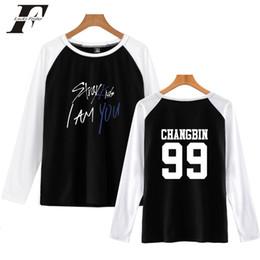 $enCountryForm.capitalKeyWord NZ - bts harajuku Stray Kids I Am You Member Changbin Print Pop Raglan T-Shirts women cotton Long Sleeve Kpop Tshirt Women plus size