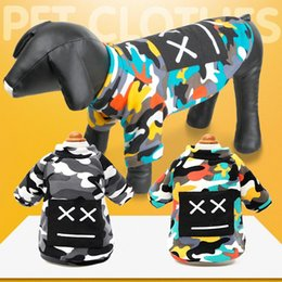 dog male diaper Australia - Pet dog clothes Sweater Autumn and winter new four-legged DOG Pet clothes Not down velvet camouflage fashion sweaters Puppy clothing