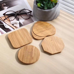 ingrosso qi ricevitore wireless charger-5W Bamboo Qi Caricabatterie wireless Caricabatterie Caricabatterie per iPhone x XS XR Galaxy S6 S7 Edge S8 S9 S10 Plus Nota Ricevitore del caricatore wireless