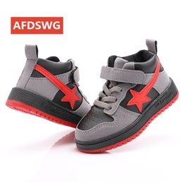 $enCountryForm.capitalKeyWord Australia - Afdswg Spring And Autumn Fashion Black Five-pointed Star Casual Sneakers For Boys Red Kids Shoes For Girl Sneakers Kids Y19051303