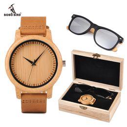 $enCountryForm.capitalKeyWord Australia - over's Watches relogio masculino BOBO BORD Bamboo Men Watch Wooden Sunglasses Suit Present Box Gift Set Women Watches Accept LOGO Drop Sh...