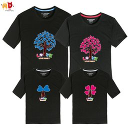 94a9e9c83 good quality 1PCS Cute Tree Pattern Family Matching T-shirts Dad Mom Son  Daughter Summer Clothing Kids Children's Cotton Clothes