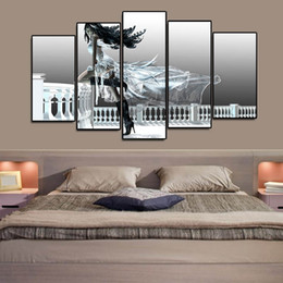 more pc games NZ - (Only Canvas No Frame) 5Pcs Pc Game Final Fantasy Sexy Beauty Figure Wall Art HD Print Canvas Painting Fashion Hanging Pictures