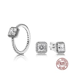 $enCountryForm.capitalKeyWord Australia - NEW 2018 100% 925 Sterling Silver SALE - TIMELESS ELEGANCE White RING Charms rings Fit DIY Original Jewelry A Set