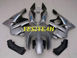 $enCountryForm.capitalKeyWord Australia - Fairing body kit for KAWASAKI Ninja ZX6R 636 94 95 96 97 ZX 6R 1994 1997 Silver black Fairings bodywork+Gifts KS05
