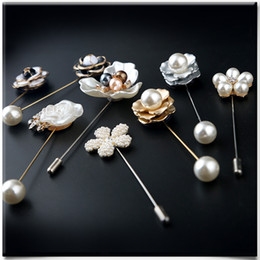 $enCountryForm.capitalKeyWord NZ - Fashion Pearl Flower One Word Brooch Women's Sweater Big Pin Vintage Corsage Collar Needle Ornaments ZK5138