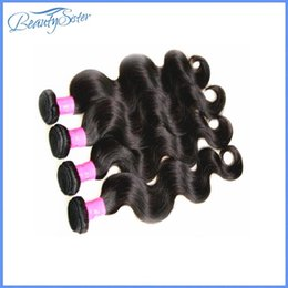 human hair weaves for cheap 2019 - Beautysister hair products cheap 8a brazilian body wave human hair 4bundles 400g lot for one full head natural black col