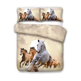 Horse duvet covers online shopping - Beautiful D Fashion Horse Bedding Set Twin Full Queen King Size Duvet Cover Pillowcase Set Bedclothes Bedding Sets