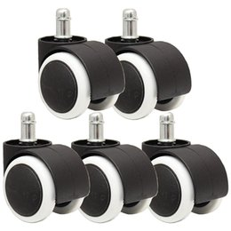 Office Chairs Wheels Australia - 50mm Office Chair Roller Castor Wheels - Set of 5 - black&white