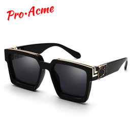 celebrity sunglasses wholesale UK - Pro Acme 2020 Square Sunglasses Men Women Fashion Thick Frame Glasses Mens UV400 Male Celebrity PD1399