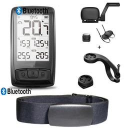 Chest monitor online shopping - Wireless BLE Bicycle Computer Bike Speedometer Cycling Speed Cadence Sensor with Bluetooth ANT Heart Rate Monitor Chest Band