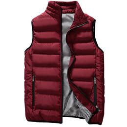 Plus Size Winter Vests Australia - Autumn Vests Men New Brand Men's Vests Winter Sleeveless Jackets Men Coats Solid Casual Vest Male Waistcoats Plus Size 5XL 989