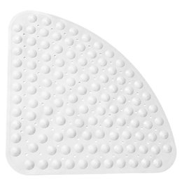 $enCountryForm.capitalKeyWord Australia - Corner Shower Mat Sector Rubber Anti-Slip Quadrant Bath Mat Anti-Bacterial Suction For Shower Tub Non-Slip Bathtub 54X54Cm