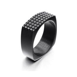 Unique Gold Bands UK - Hot 2019 Fashion Punk Retro Style Unique Male Jewelry Simple Design Vintage Stainless Steel Rings For Men