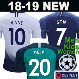 aeca14577 MENS HOME third football shirt 2018 2019 KANE SON ERIKSEN LAMELA DELE WOMEN  Kids kits 18 19 20 new soccer jersey top thailand quality