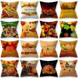 ThanksGiving Day Abóbora Maple Impresso Poliéster Fronha Sofá Capa de Almofada Decoração de Casa Funda Cojin Fronha Cojines Fronhas em Promoção