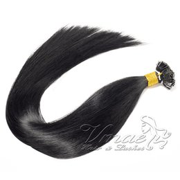 14 inch pre bonded hair extensions NZ - Brazilian Black Straight Double Drawn Flat Tip Pre Bonded Hair Extension 100g Keratin 14 To 26 Inch 100% Virgin Human Hair