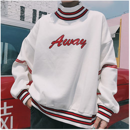 $enCountryForm.capitalKeyWord Australia - Women Hoodies Sweatshirts 2018 Autumn Korean Style Ulzzang Harajuku Letter Printed Fleece Turtleneck Hoody Sweatshirt Female Top C19040301