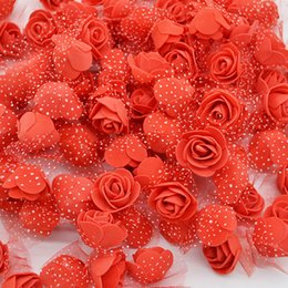 $enCountryForm.capitalKeyWord NZ - 50pcs lot 3.5cm Mini Pe Foam Rose Heads Artificial Silk Flowers For Home Garden Diy Pompom Wreaths Wedding Decor Supplies