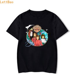 Face T Shirt Designs Australia - Spirited Away And Design T Shirt men No Face totoro Funny T Shirts Graphic tees Custom Gift Men streetwear style